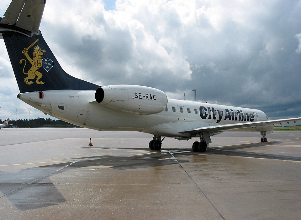One of my most odd works, designing the airliner livery of City Airline.