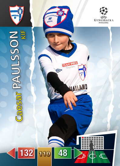 "I made a little ""joke"" on the boys in my sons football team. Since Football trading cards are so popular among the boys I made similar cards with my son and his team mates. They are very popular! Made in Illustrator/Photoshop/Nikon D300s"