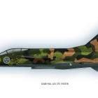 What could have been. A souped up Viggen. It was a little joke to my friends. Made in Illustrator, coloured in Photoshop.