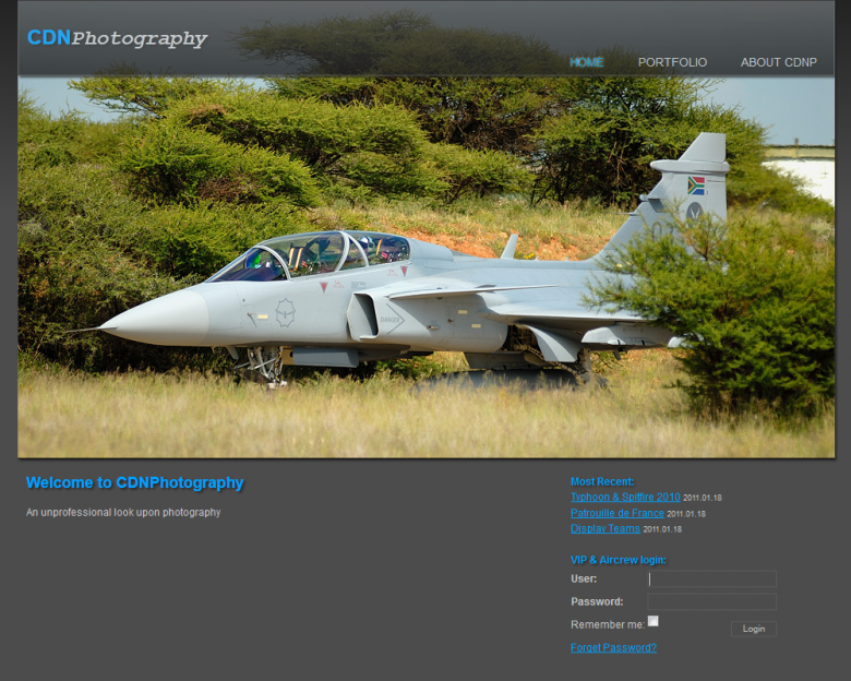 Website for a photograper friend of mine, 2010. This site is using a CMS called ModX.